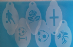 6 x England football stencils for face painting  soccer World Cup